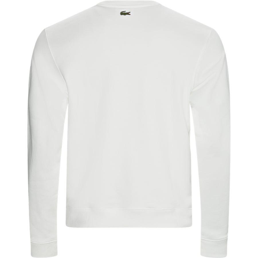 SH8583 - Embroidered Multicolour Signature Fleece Sweatshirt - Sweatshirts - Regular - OFF WHITE - 2
